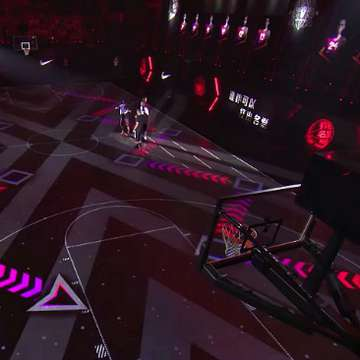 Nike Rise 2.0 Digital Basketball Training Court Combines Experiential Design with Advanced Tracking