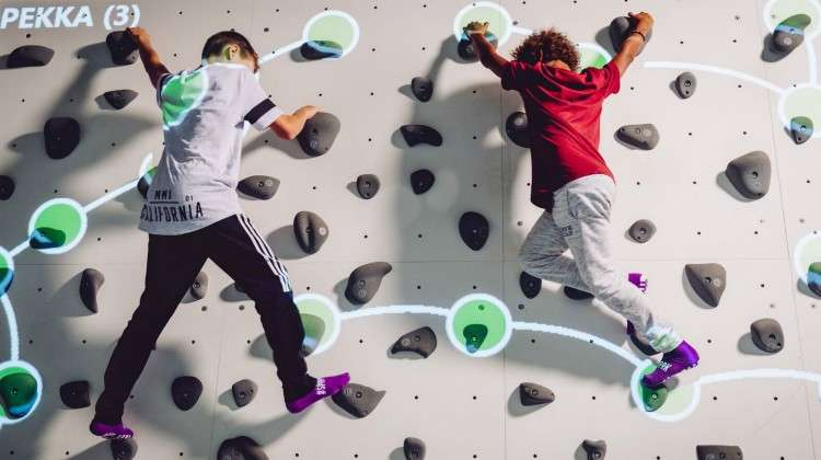 Augmented Climbing Wall Invigorates Activity Parks with Interactive Climbing