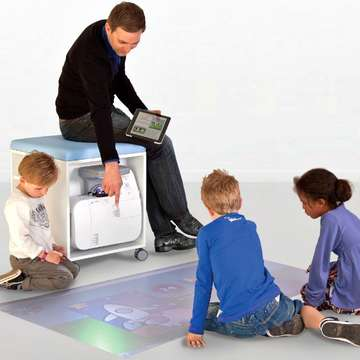 i3LIGHTHOUSE Interactive Floor Projector Promotes Learning Through Active Play in the Classrooom
